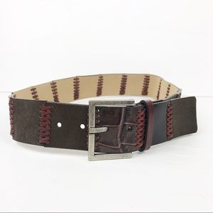 Nine West | Leather Woven Pieced Belt